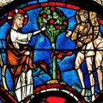 Adam und Eva im Garten Eden - Fester aus Chartres