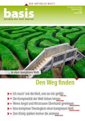 Titelseite: Labyrinth, basis September 2020 | Thema: Den Weg finden